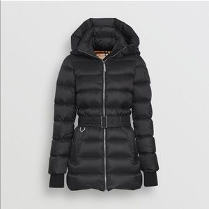 NWT BURBERRY DOWN-FILLED HOODED PUFFER COAT